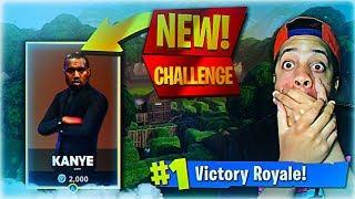 *NEW* FORTNITE KANYE WEST CHALLENGE! GUESS WHAT HAPPENED! (Season 4 Fortnite Battle Pass)