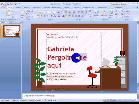 Vídeo Diploma desenhos