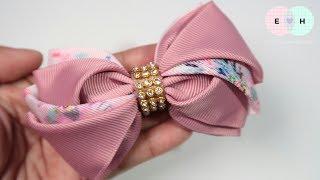 Laço De Fita De Blossom Ribbon Bow Tutorial DIY by Elysia Handmade ...