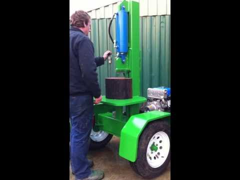 Hydraulic Up-Right  Wood Spliiter By Beaver Equipment