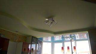 как сделать двухуровневый потолок из гипсокартона своими руками видео