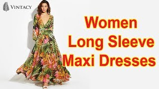 Sexy Women Long Sleeve Maxi Dresses Review