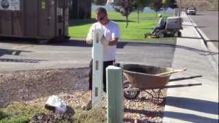 How To Install Vinyl Fence  (part 1)
