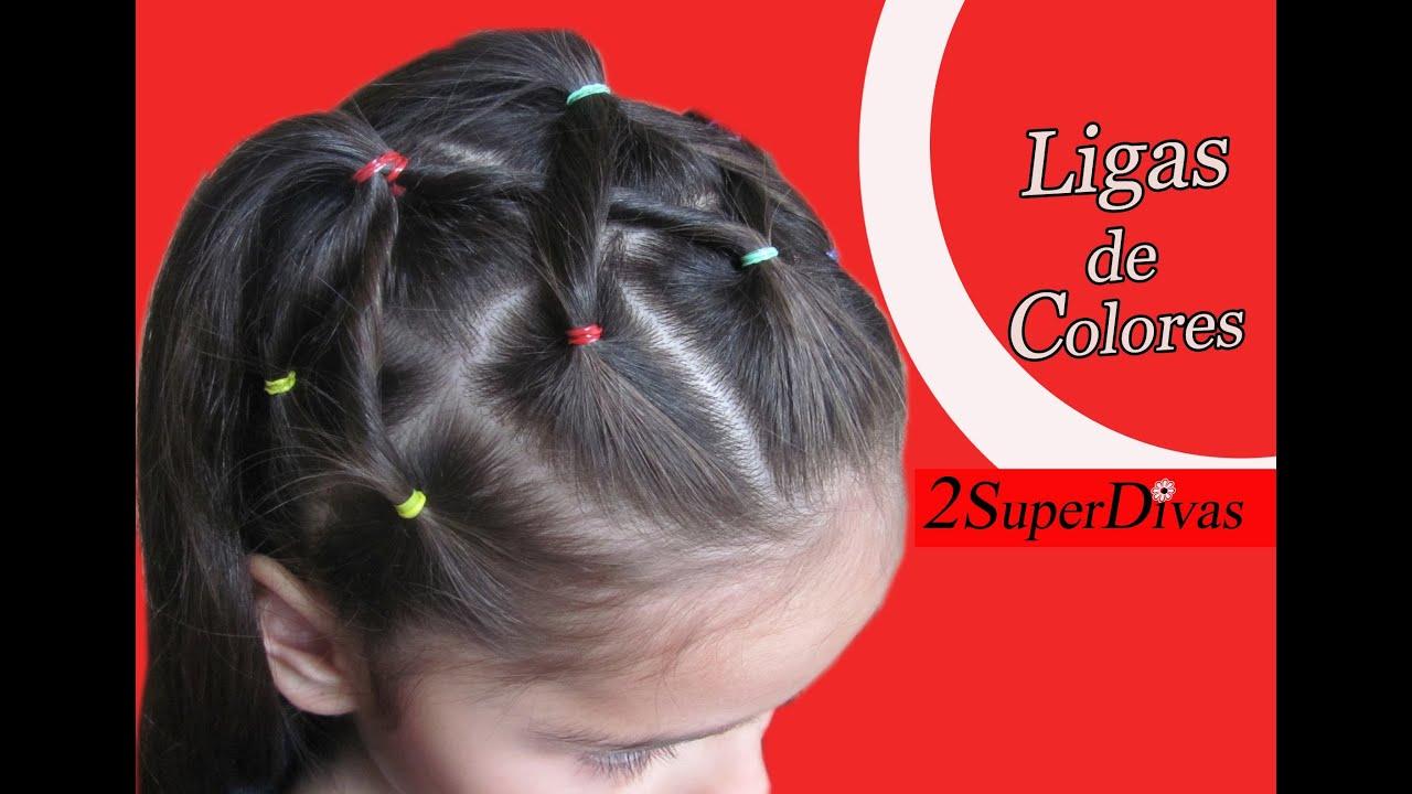 Peinado en Ligas, Cauchos o Cintas para Ocasion especial , Niñas, Novia, Pajesita, Trenza , YouTube