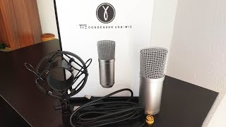 Unboxing & Hands-on - TIE Studio USB Kondensator-Mikrofon [ 40 Euro Anfänger-Micro ]
