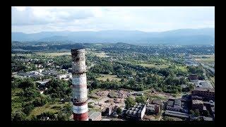 Jelenia Góra z drona - Celwiskoza komin