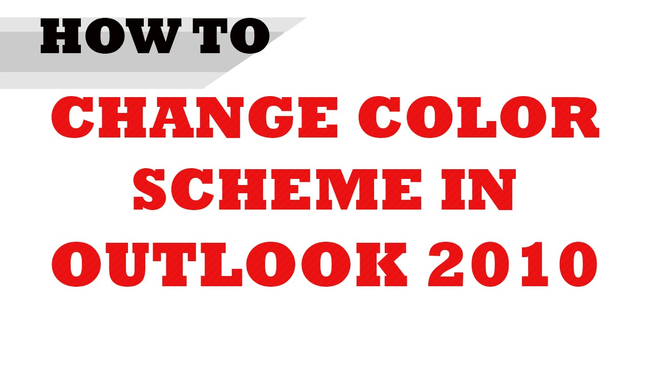 How to color inbox in outlook - How To Change Color Scheme In Microsoft Outlook