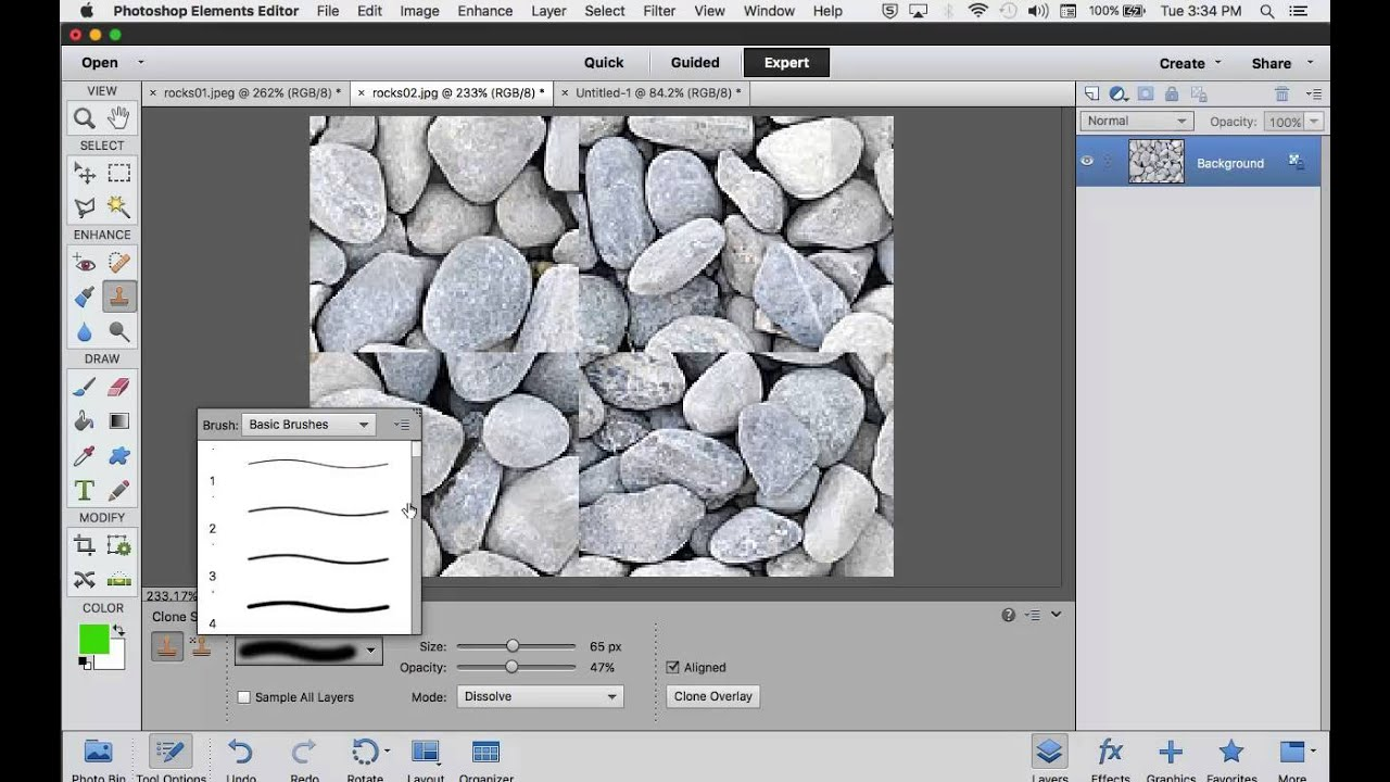 Adobe Photoshop Pattern Stamp Tool