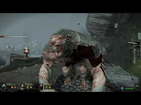 Warhammer End Times – Vermintide - Co-op Mission Easy - Ubersreik Act 3 Waterfront  