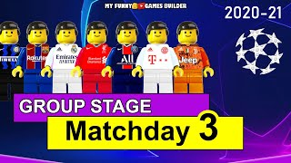 Champions League 2020 21 Group Stage Matchday 3 in Lego Football Juventus Bayern Liverpool PSG