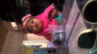 Baby funny drink milk.3gp