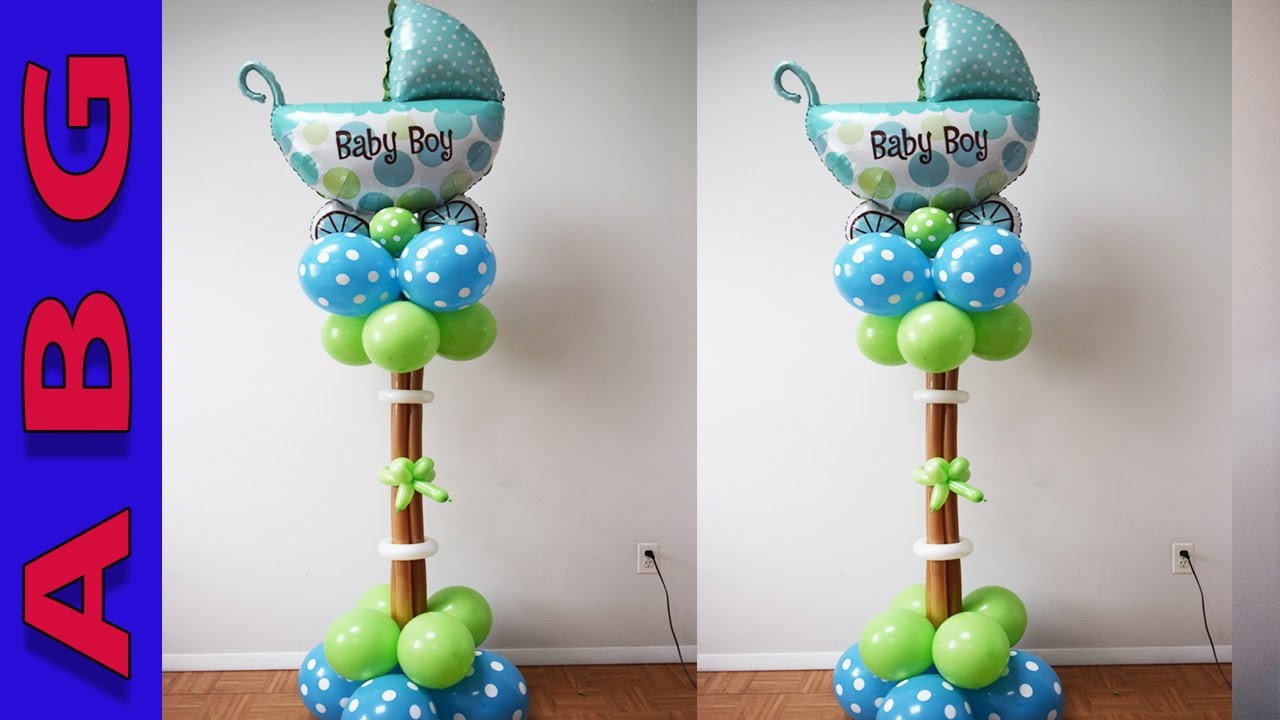 Superb Baby Shower Balloon Carriage Decoration Tutorial