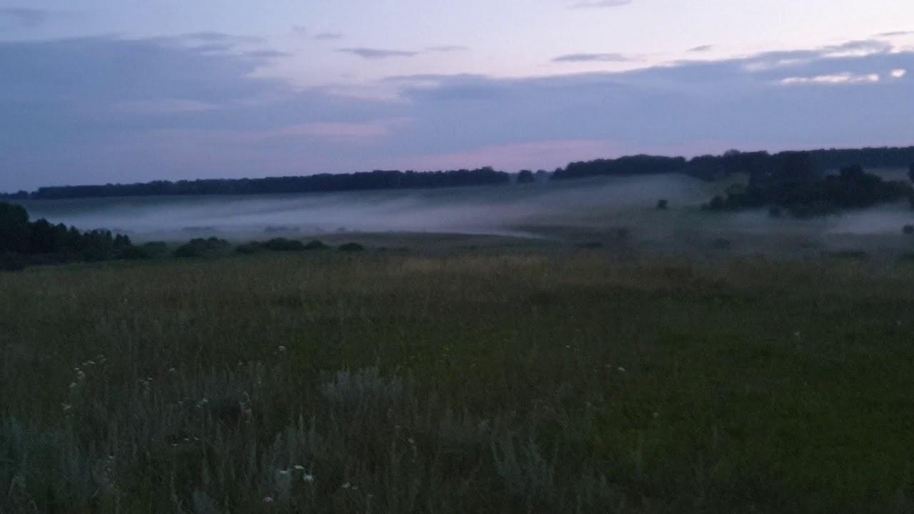 Поехали работать на 2 круг.Деревня в тумане.