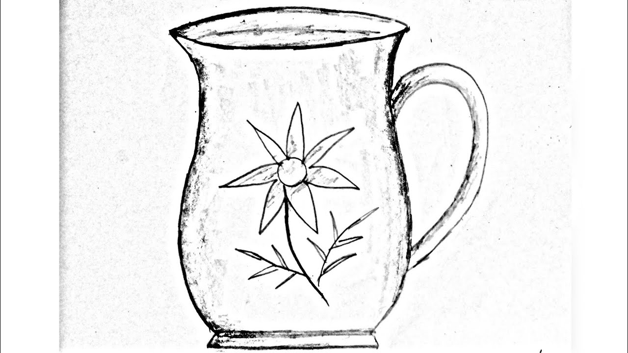 How to draw a water jug water jug drawing easy