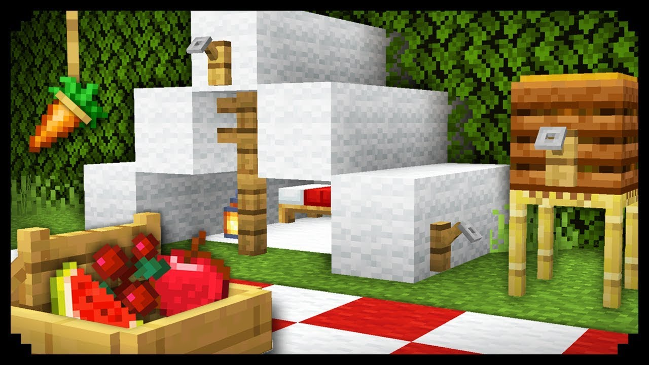 Minecraft 10 Easy House Furniture Design Ideas Youtube