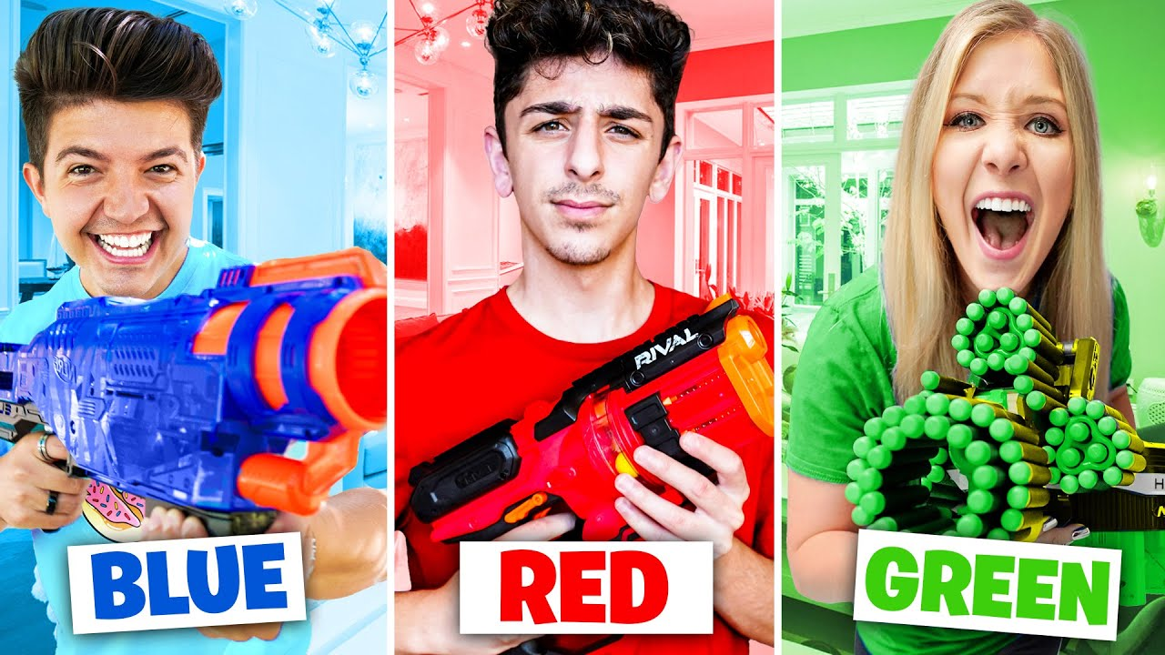 EXTREME One Color NERF Hide and Seek vs FaZe Rug! - Challenge