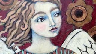 """Glory Day"" Angel painting"