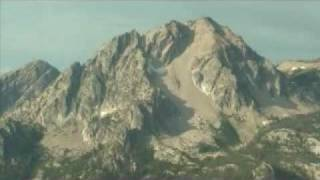 Flying over the Sawtooth Mountains