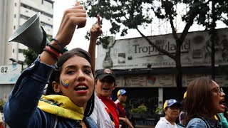 'The people needed a change': Anti-Maduro protesters take to the streets of Caracas