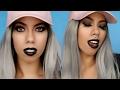 All Black Glam Makeup Tutorial I Instagram Baddie Makeup