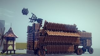 Besiege - The Reloading Catapult Wagon!