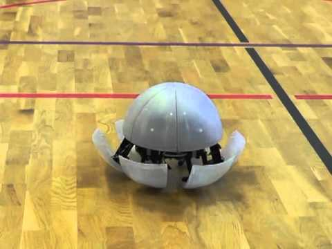 A robot with Portal 2's turret voice