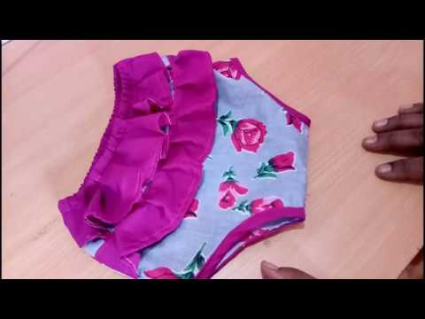 How To Cut And Sew A Diaper Cover With Frill For Babies
