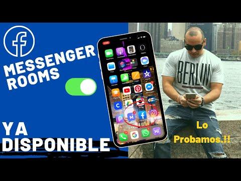 Cómo Crear Salas De CHAT Virtuales Messenger ROOMS En IPhone?