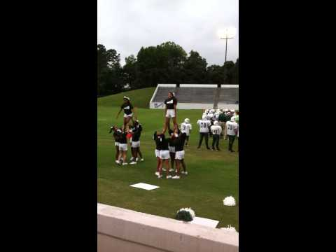 Kiser middle school cheerleaders 2014-15 football