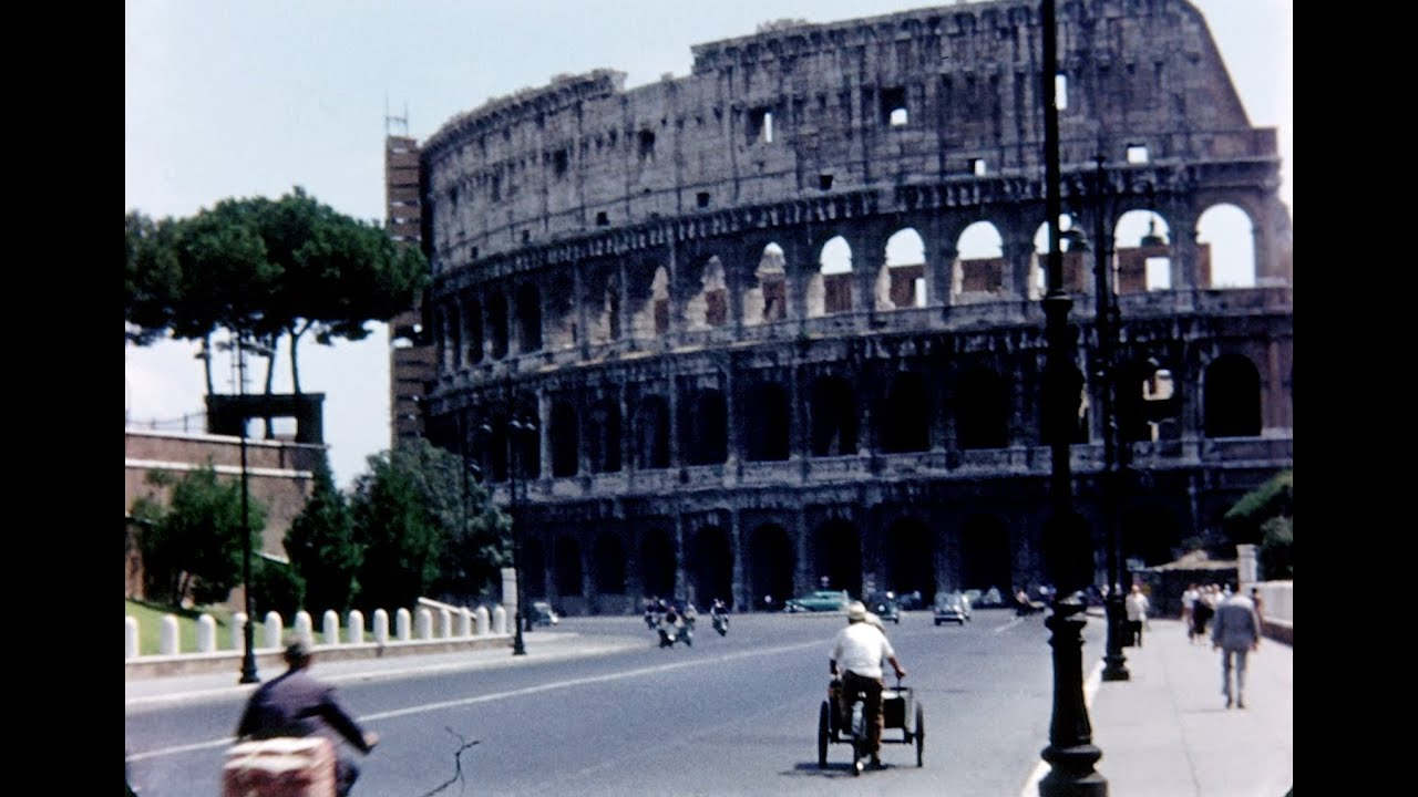 Scenes of 1950\'s Rome - HD Home Movies