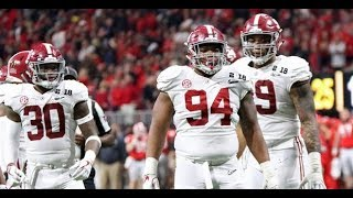 Da'Ron Payne (Alabama DT) vs Georgia - 2018 National Championship
