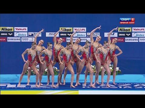 Тринадцатая золотая медаль Сборной России в Рио 2016. Синхронное плавание. Групповые соревнования.
