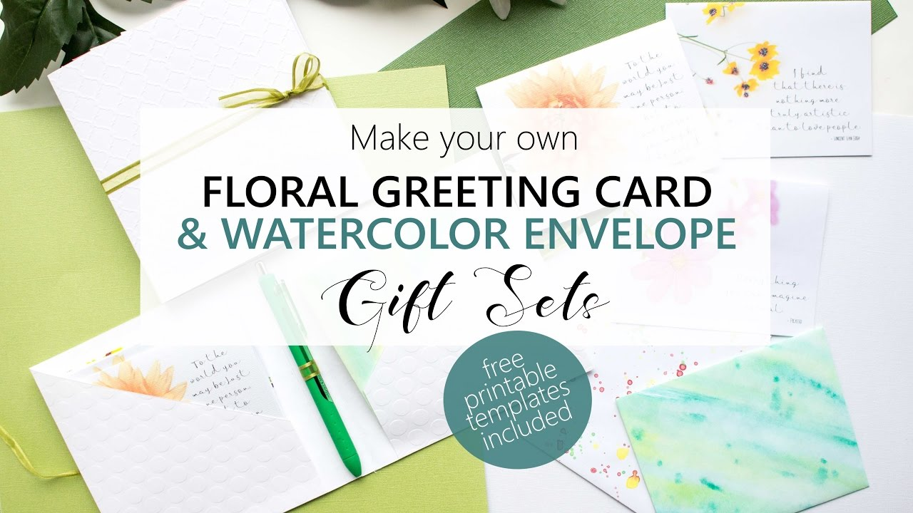 Greeting Card Making Create Your Own Greeting Card Gift Sets Youtube