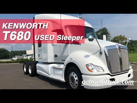 USED Kenworth T680 Sleeper Semi-Truck For Sale