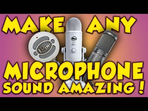 HOW TO MAKE ANY MICROPHONE SOUND PROFESSIONAL! Any microphone sound professional/amazing [TUTORIAL]