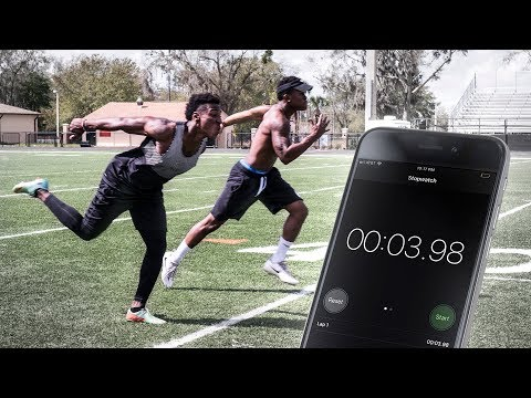 THE FASTEST 40 YARD DASHES WE'VE EVER RAN.. LOSER BURNS THEIR CLEATS!