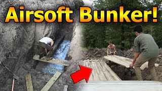 Digging WW1 Trenches and Airsoft BUNKER!