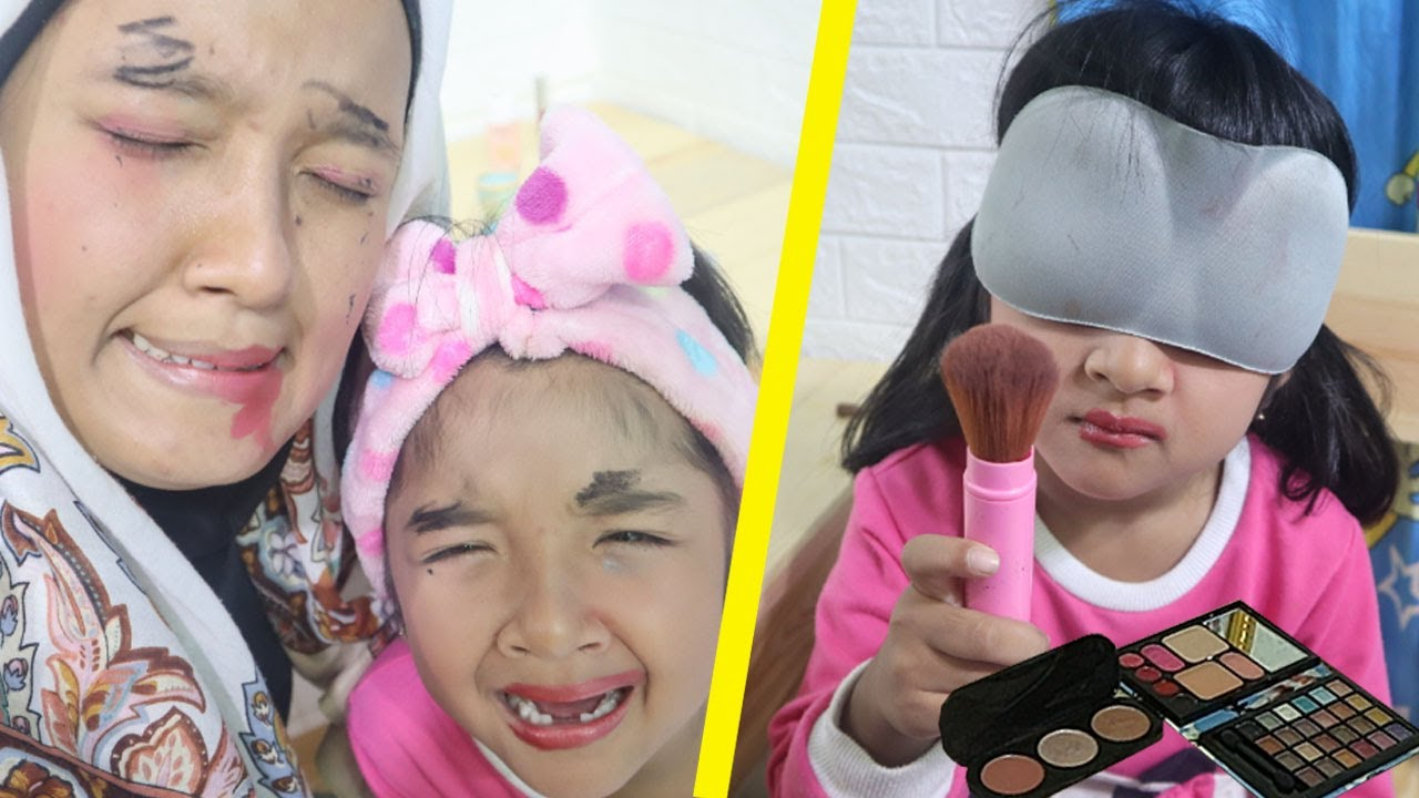 Make Up Challenge ibu vs anak | parodi ibu anak lucu - YouTube