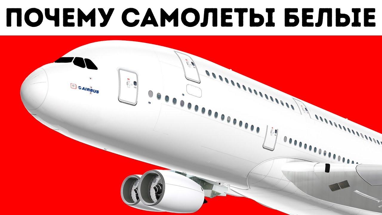 Почему самолеты почти всегда белые