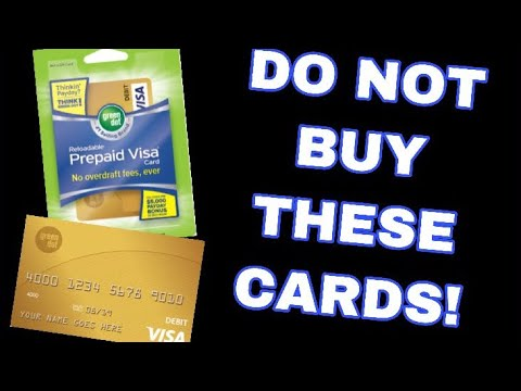 DO NOT BUY GREEN DOT RELOADABLE GIFT CARDS