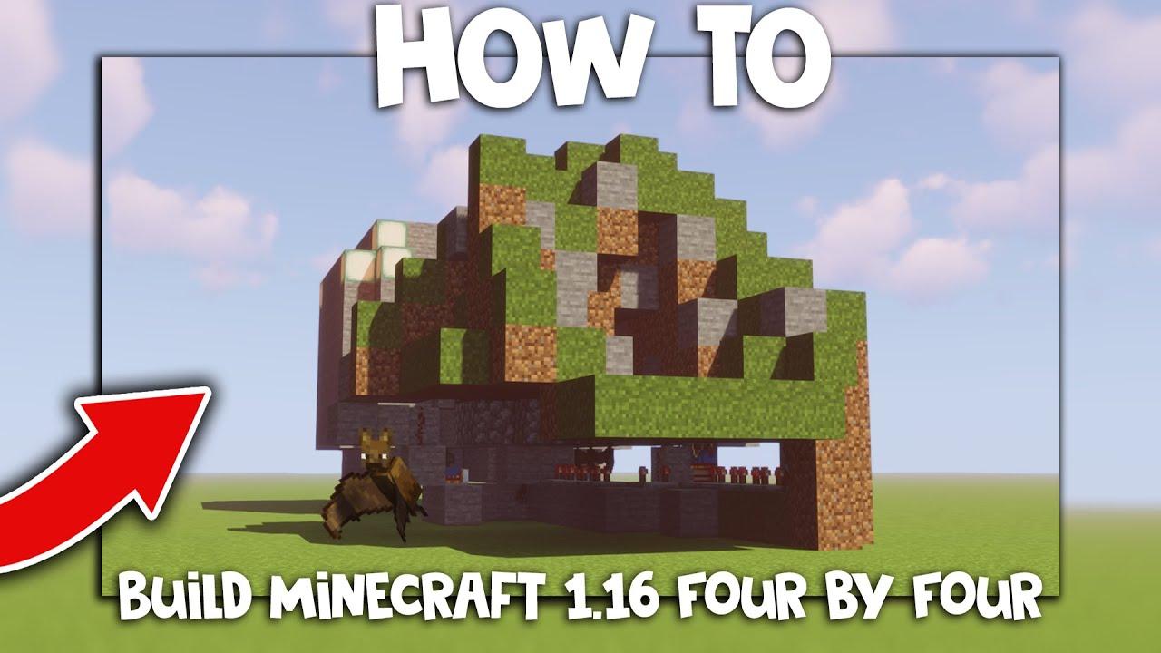 How To Build Minecraft 1.16 Door(4x4 Piston Door)