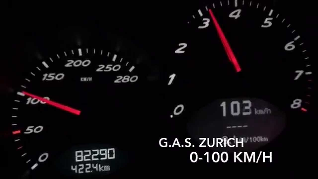 Porsche Boxster 27 0100  060 kmh acceleration  YouTube