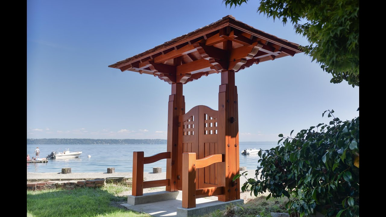 Woodworking, Japanese Garden Gate, Timber Framing - YouTube