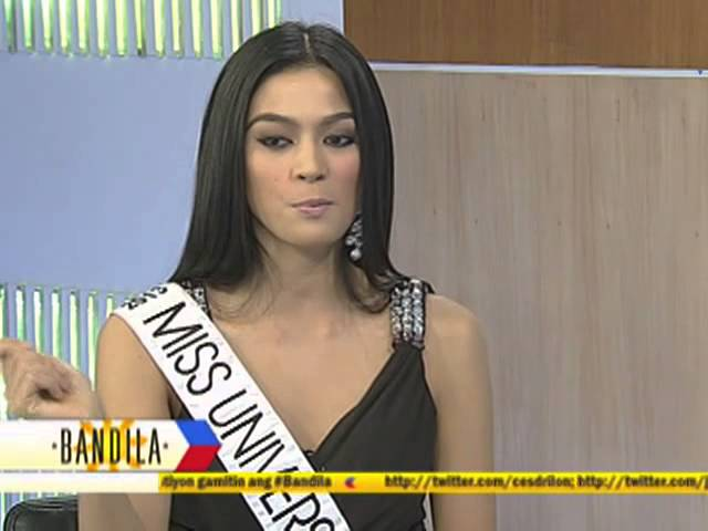 Ariella answers other Top 5 questions in Miss Universe