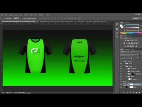 Short Sleeved Psd Jersey Tutorial Template Youtube