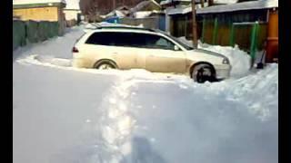 Caldina ST 215 G по снегу