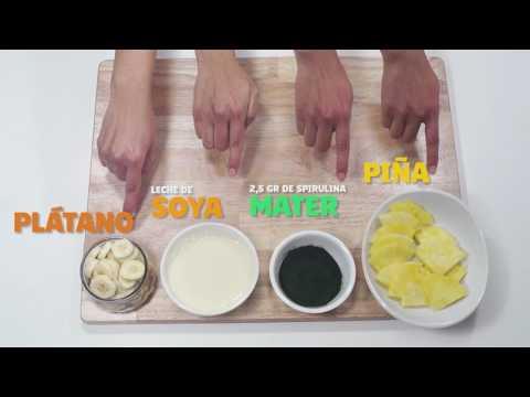Smoothie de Plátano + Spirulina Mater