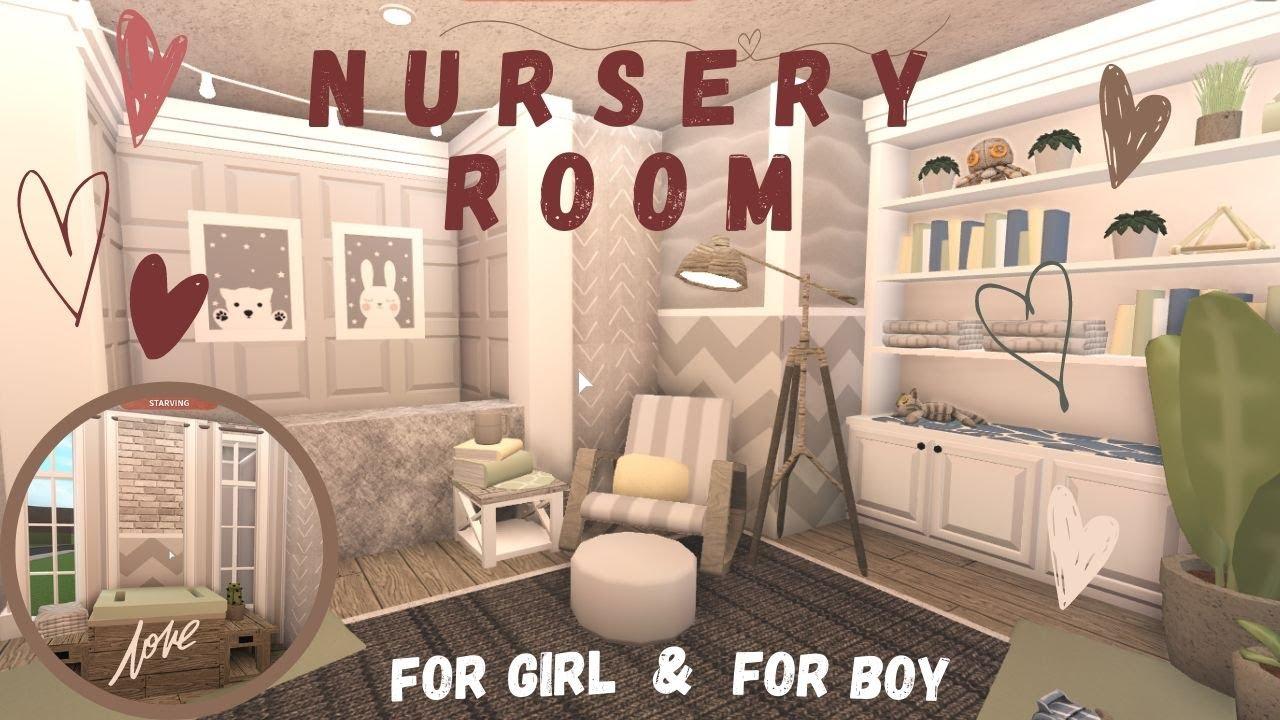 Bloxburg | Roblox Baby Girl & Boy Nursery Room | Room Tour And Speedbuild - YouTube