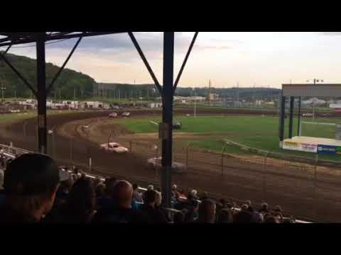 Upper Iowa speedway USRA stock car Heat 1 7/28/18