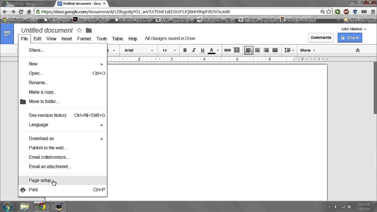 How to color in google docs - How To Modify The Side Margin In Google Docs Digital Dexterity